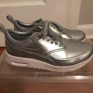 Metallic Silver Air Max Nikes